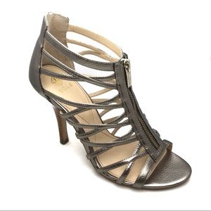 Isola Womens Angelique Caged Zip Front Sandal